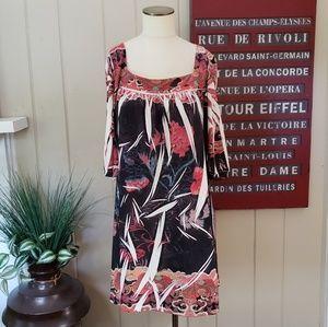 Believe | L sublimation printed dress midi